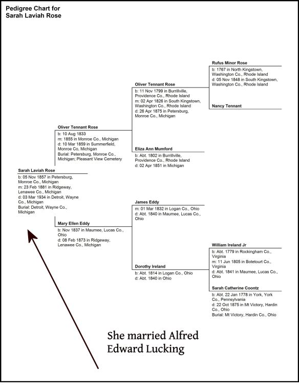 Pedigree Chart for Sarah Laviah Rose
